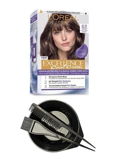 L'Oréal Excellence Cool Creme 6.11 + Saç Boyama Seti Renksiz